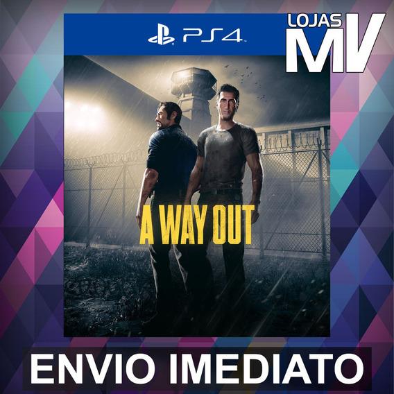 A Way Out - Playstation 4 Ps4 Código 12 Dígitos