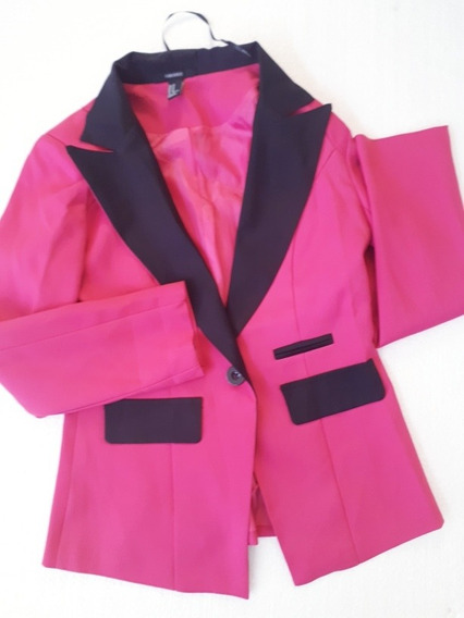 Blazer Rosa Talle S/m Ropa Mujer