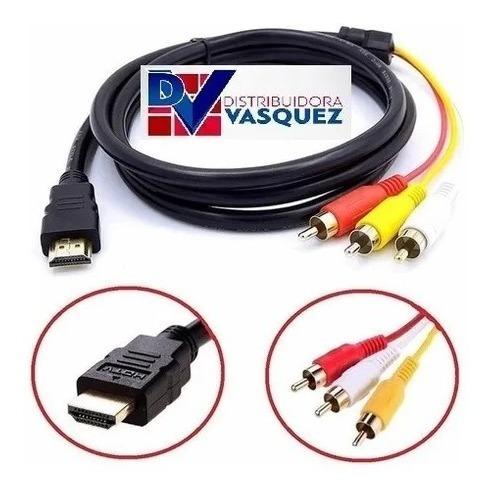 Imagen 1 de 1 de Cable Adaptador Hdmi A 3rca - Audio Y Video 2 Metros Full Hd