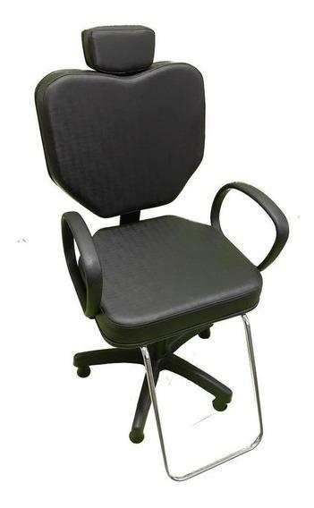 Cadeira Poltrona Para Salão Cabeleireiro Preto