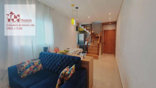 Cobertura Com 2 Dormitórios À Venda, 92 M² Por R$ 409.000,00 - Vila Assunção - Santo André/sp - Co0950