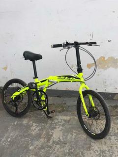 Bicicleta Freno Disco Plegable Slp Rodado 20 Paseo Cross