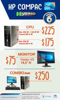 Computador Core I5: Cpu, Monitor Por Separado O Combo 100%gz