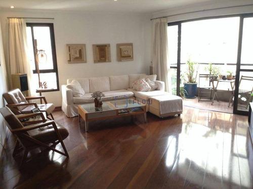 Apartamento 178m², 3 Dormitorios, 3 Suíte, 3 Vagas - Campo Belo - Ap10417