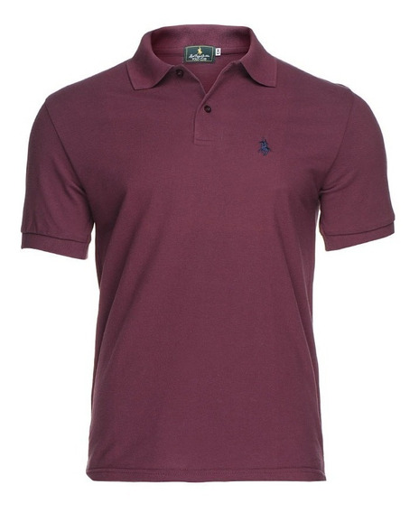 Playera Polo Club - Vino