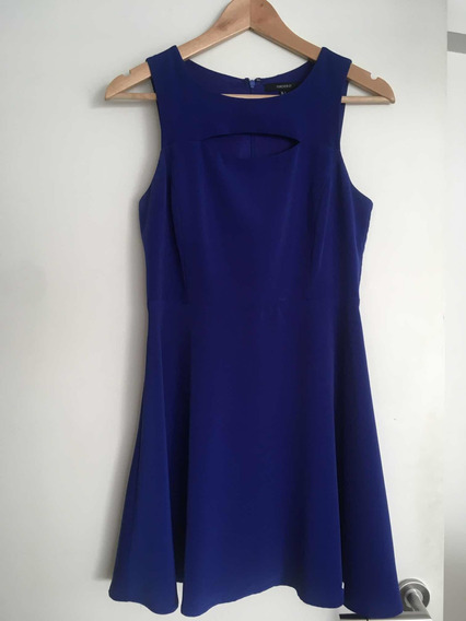 Vestido Para Fiesta Y Casual. Azul Corto Forever 21.
