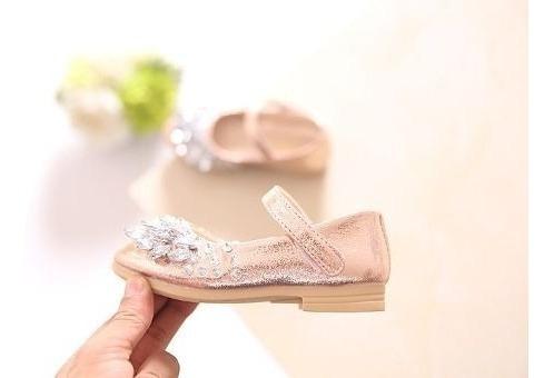Sapato Infantil Festa Princesa Dourado Prata Rosa Daminha