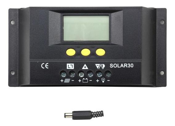 Controlador De Carga Solar Fotovoltaico Pwm S30 Lcd 30a