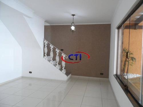 Sobrado Com 3 Dormitórios À Venda, 176 M²  - Jardim Santa Cristina - Santo André/sp - So0513