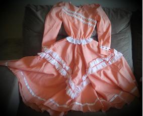 Vestido De Prenda 6 Anos Salmão