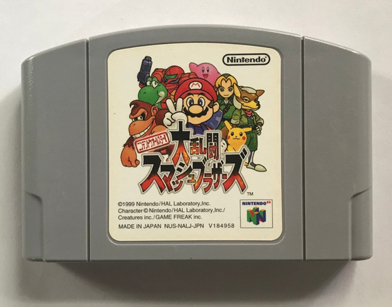 Super Smash Bros Nintendo 64 Original Japonês