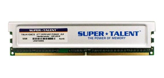 Memoria Pc Supertalent 1gb Ddr2 800mhz 667mhz C/ Disipador