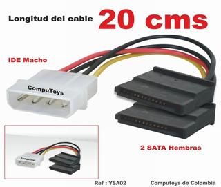 Zysa02 Cable Corriente 1 Ide M A 2 Sata H Qysa02q Compu-toys