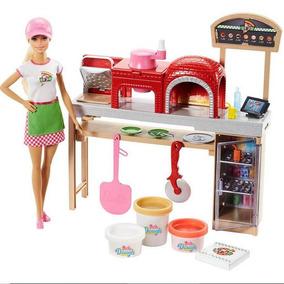 Brinquedo Barbie Pizzaiola Cozinhe E Crie Mattel Fhr09