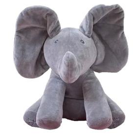 Peek A Boo Pelúcia Musical Canta Mexe Elefante