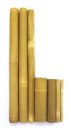Kit Bambu Para Massagem Modeladora Corporal E Facial - Lixado