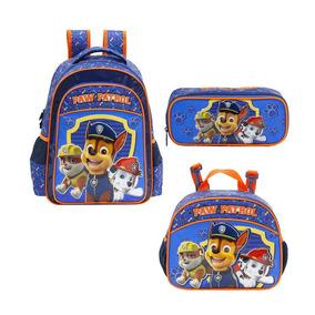 Kit Mochila Infantil E Lancheira E Estojo Paw Patrol 7992k1