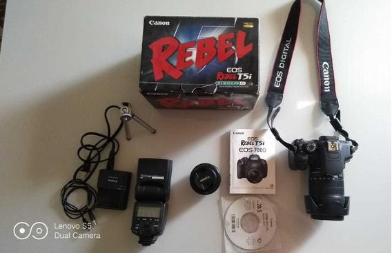 Kit Canon Câmera T5i 18-135 Mm+ Lente 50 Mm + Flash Viltrox