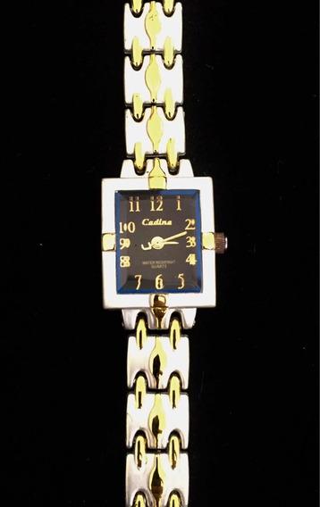 Relógio Feminino Cadina Preto Produto De Mostruário 005