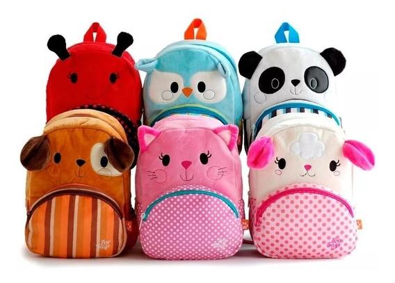 Mochila Chica Zoo Bags De Peluche Surtidas Tienda Fun Now!