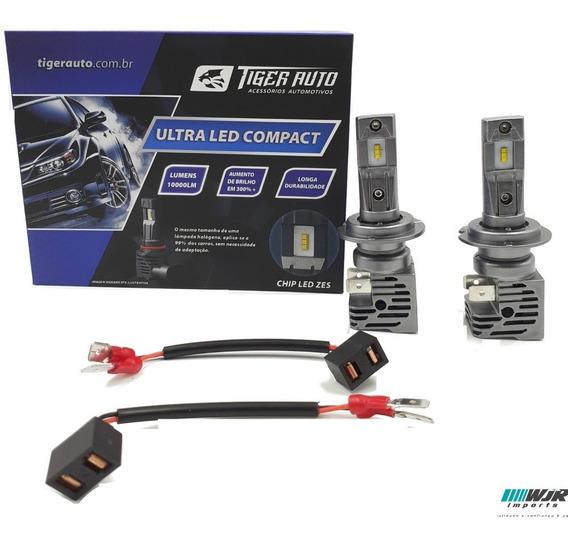Kit Lampada Ultra Led 2d Reator Integrado 6000k H7