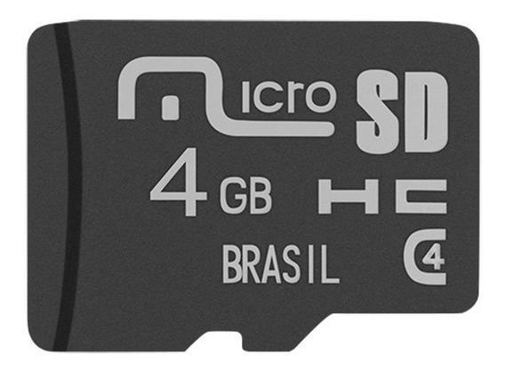 Cartão De Memória Micro Sd Multilaser Mc144 4 Gb