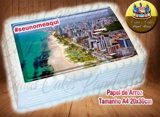 Recife, Pernambuco Papel De Arroz Com Nome 20x30cm Capitais