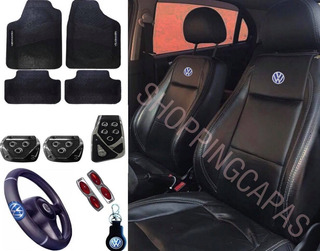 Kit Luxo Capa Banco Carro 100% Couro Voyage 86 87 88 89 90