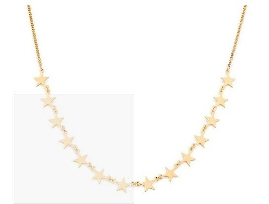 Colar Gargantilha Com 14 Estrelas Lisas Joia Rommanel 2019