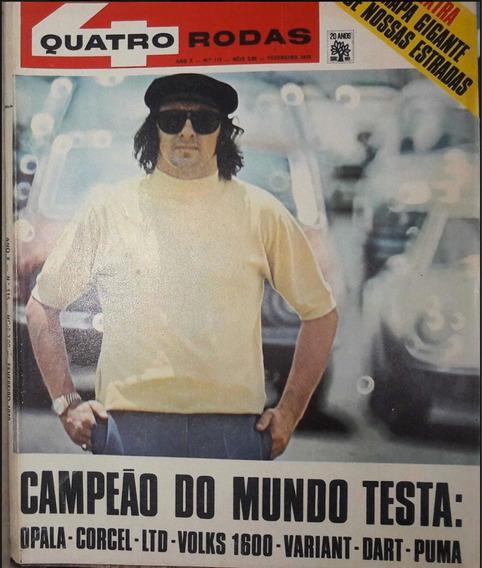 Revista 4 Rodas Dart Galaxie Corcel Vw Jackie Stewart Barata