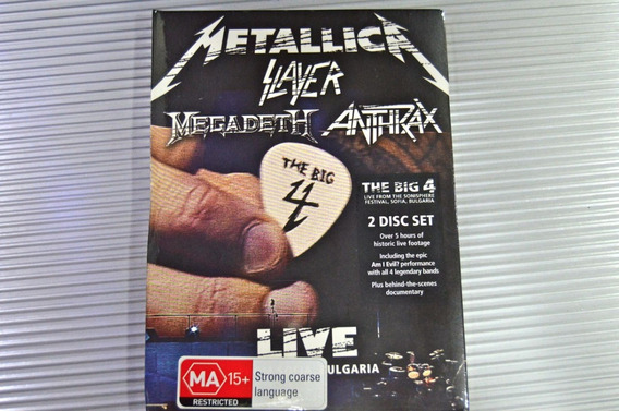 Metallica Slayer Megadeth Anthrax The Big 4