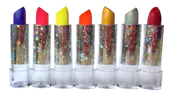 Pack X 7 Labiales Fluo + Glitters Funny Girl