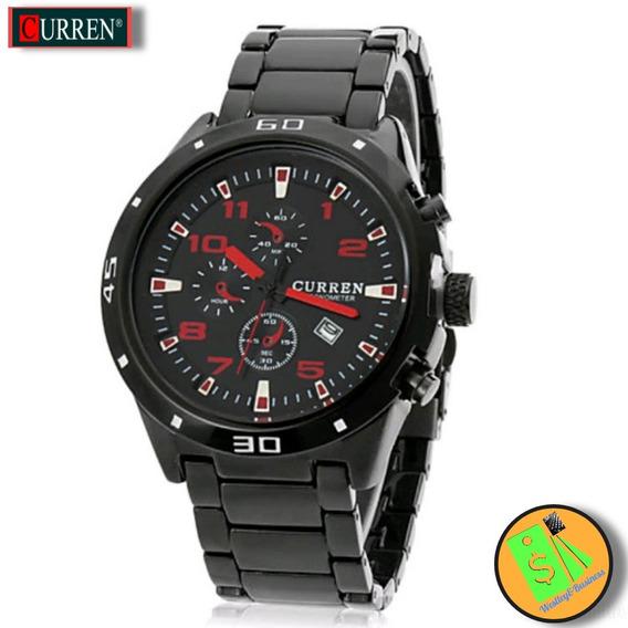Relógio Masculino Esportivo Aço Inoxidável Luxo Quartzo