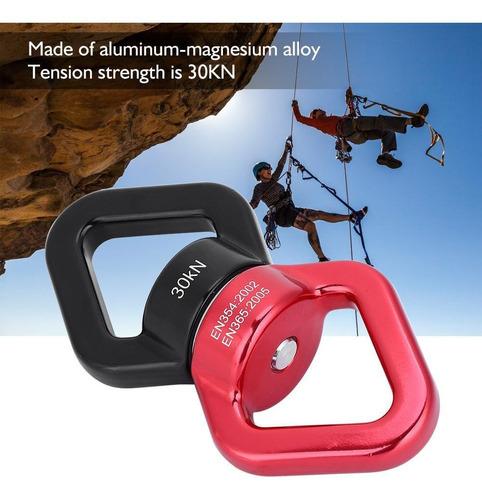 Rojo y Negro HGY 30 kN Escalada Yoga Giratorio Seguridad de rotaci/ón del Dispositivo multifunci/ón rotador Conector