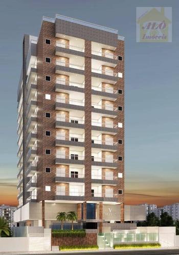 Apartamento Com 1 Dormitório À Venda, 48 M² Por R$ 251.219,15 - Vila Guilhermina - Praia Grande/sp - Ap2596