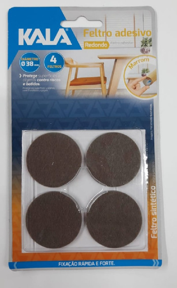Feltro Adesivo Redondo Cadeira Sofa Mesa 38mm C/4