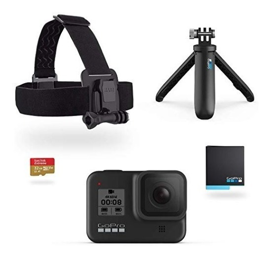 Camera Gopro Hero8 Black+ Suportes+ Card 32gb+ Garantia+ Nfe