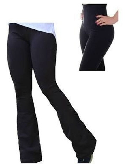 Calça Legging Flare Cós Super Alto Plus Size Modela 48 A 66