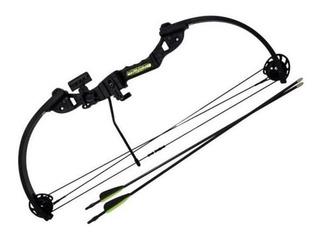 Arco Composto Tom Cat 20-22 Lbs - C/ 2 Flechas 20 - Verde
