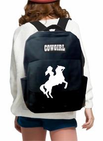 Mochila Cowgirl, Cowboy,country,escolar,cavalo