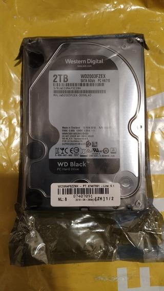 Disco Rígido 2tb Wd Sata 3 Black Wd2003fzex - Envío Gratis!