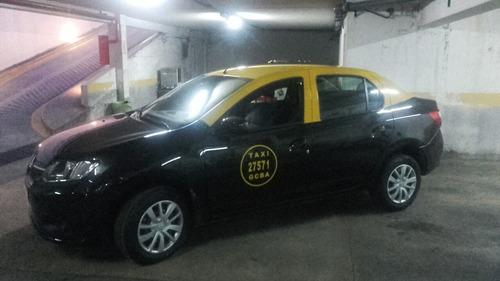 Renault Logan Expresion 2016 Taxi Con Licencia Y Reloj