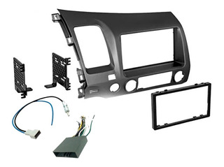 Base Estereo Frente Kit 2 Din Honda Civic Año 2006-2011