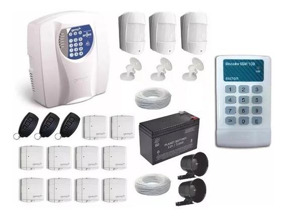 Kit Alarme Residencial + Sensor Genno + Discadora Gsm Sulton