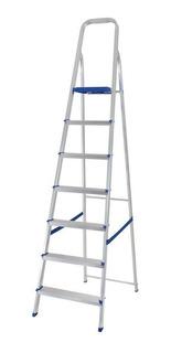 Escada Alumínio 7 Degraus Capacidade Para 120 Kg