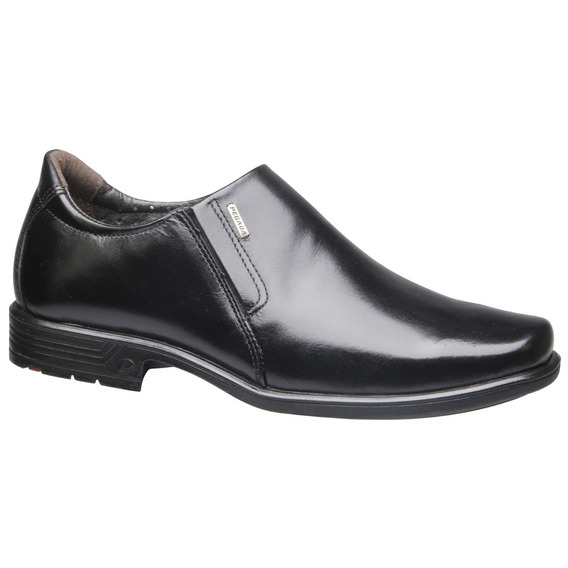 Sapato Social Confortável Couro Preto Soft Pegada