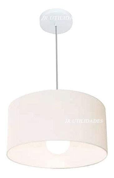 Luminária De Teto Pendente Lustre 40x25 Cm Branco Gg 37