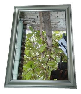 Espejo Moderno Con Marco De Aluminio Forma Rectangular