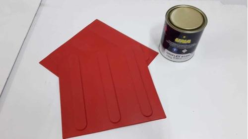 Imagem 1 de 1 de 20pçs Piso Direcional Vermelho Pvc + 1 Lata Cola 700 Gramas