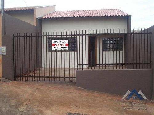 Imagem 1 de 14 de Casa Com 2 Dormitórios À Venda, 61 M² Por R$ 185.000,00 - Jardim Belém - Londrina/pr - Ca1148